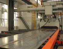 Roller Conveyor Shot Blasting Machine for Steel Plates, H Beams and Profile Steel