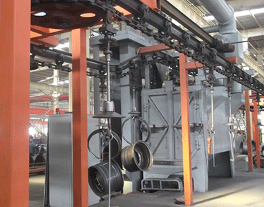 Continuous Hanging Chain Type Shot Blasting Machine