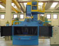Turntable sand cleaning machine