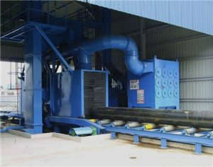 air shot blast machine for steel pipe