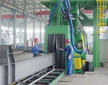 H Beams and Profile Steel Shot Blasting Machine