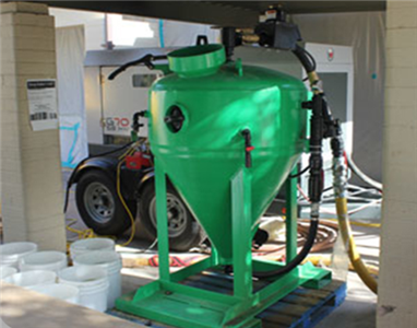 dustless blasting machine